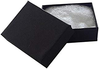 JPI DISPLAY #11 Matte Cotton Filled Paper Jewelry Boxes, Black, 100 Count