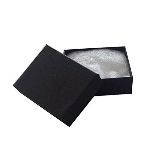 JPI DISPLAY # 11Matt Baumwolle gefüllt Schmuck Boxen, Papier schwarz, 100Zählen