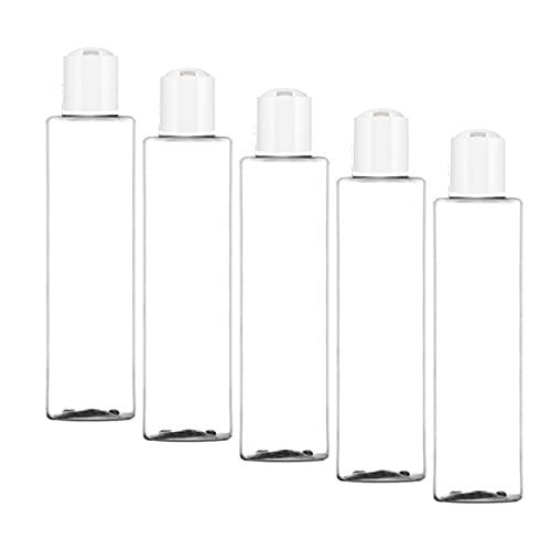 PHOENIX PRODUCTS Frascos de viaje vacíos, contenedores de plástico para líquidos con etiquetas impermeables, ideales para neceser y maleta., transparente, 100 ml,