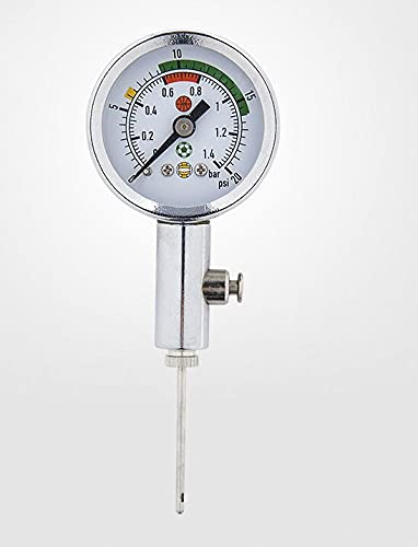TANGIST Mini bola Meter Meter Baloncesto Fútbol Voleibol Barómetro Herramientas Regulador de Aire Medida de presión Herramienta Presión de Aire Medidor de presión