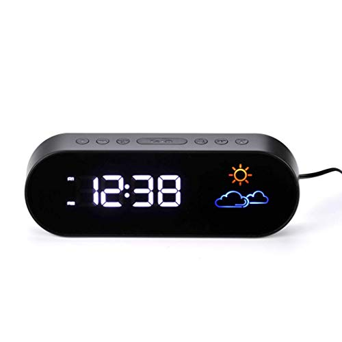 HYY-YY Wekker for zware bielzen slaapkamer tafel kantoor klok dimmer digitale display multicolor