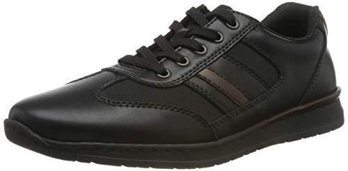 Rieker Herren B5131-00 Sneaker, Schwarz (Schwarz/Schwarz/Kastanie 00), 43 EU