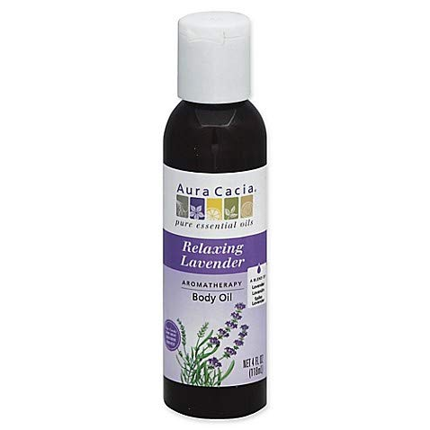 Aura Cacia Relaxing Lavender, Aromatherapy Body Oil, 4 oz. bottle