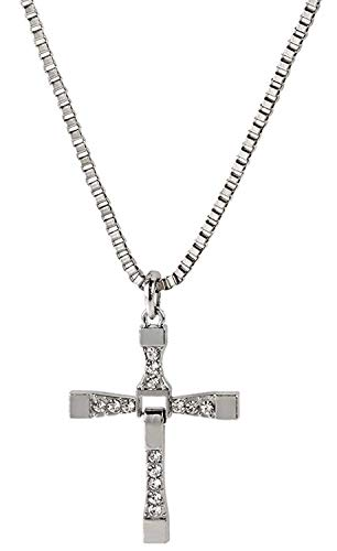 FAST AND FURIOUS Vin DIesel Dominic Toretto Pendentif Croix Chaîne Collier inox