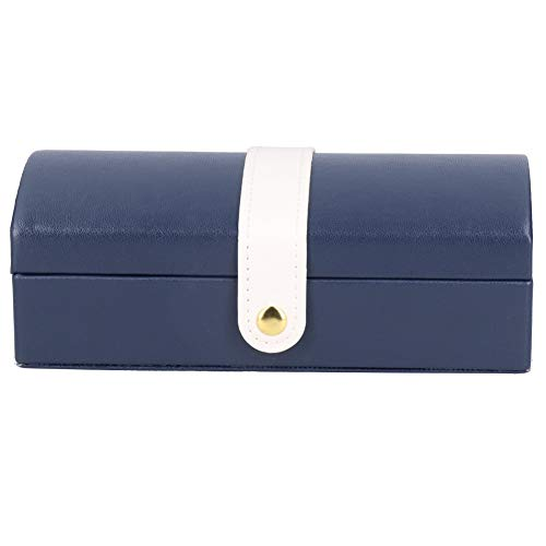 6.7x3.7x2.4in Joyero Estuche para Joyas Caja de Almacenamiento de Joyas Organizador de Joyas para Viajes Diario(Dark Blue-Large Internal Capacity)
