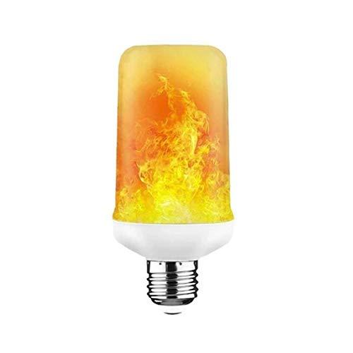 Simulación De Lámpara De Llama Led Efecto De Llama Dinámico Modo De Parpadeo E27 Blanco Claro