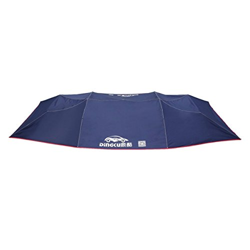 Half Automatic Awning Tent Car Coverutdoor Waterproof Folded Portable Car Canopy Cover Anti-UV Sun Shelter Car Roof Tent