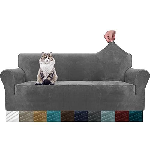 MAXIJIN - Fundas gruesas de terciopelo para sofá de 3 plaza