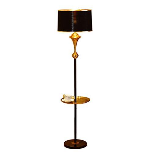 QTDH nachtlampje met legplank, modern dienblad van smeedijzer, bijzettafel, leeslamp, hallamp, continu licht voor taken in de woonkamer, slaapkamer