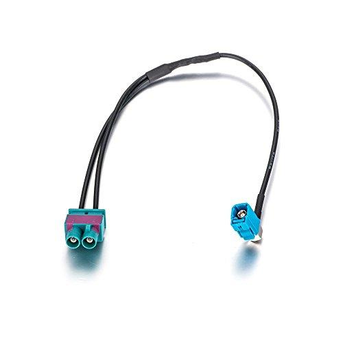LIEBMAYA Autoradio Antennenadapter Auto Antenne Adapter Doppel Fakra auf Fakra Verteiler Splitter für VW