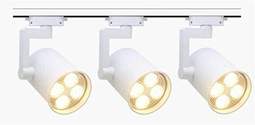 FACAZ Modern Track Lighting Led 35W Adjustable Ceiling Kitchen Lights Indoor Lighting For Living Room And Bathroom (3PCS) (Color : Black, Size : 35W-Warm light)