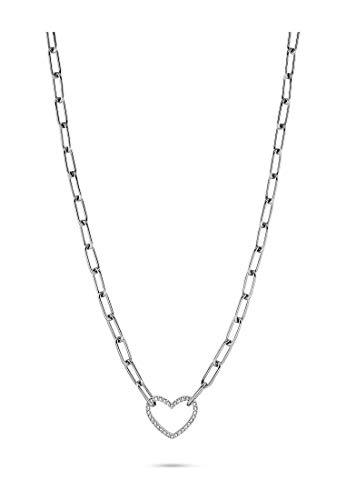 GMK Damen-Kette Edelstahl 32 Zirkonia One Size Silber 32012875