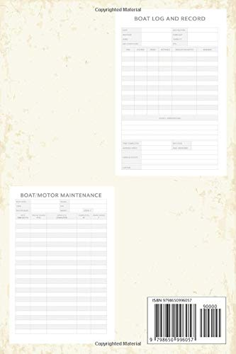 Boat Log Book: Journal for Logging Trips and Maintenance