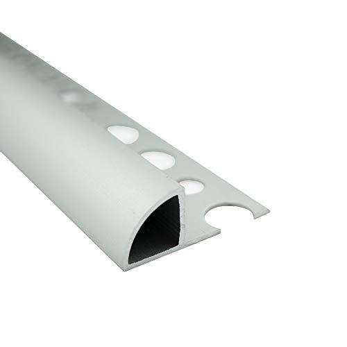 Alu Viertelkreis Profil Fliesenschiene Schiene silber L270cm 12mm matt