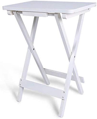 QTQZDD salontafel, bijzettafel, klaptafel, nachtkastje, bureau, make-uptafel, hout, materiaal 453061 cm, theetafel (kleur: wit) 1 1