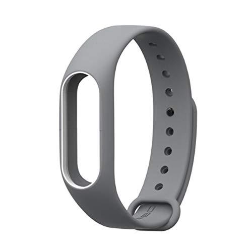 para MI Band 2 Brazalete De Reemplazo De Correa para Xiaomi Band 2 Print Silicone Universal Muñequera Colorida Banda De Relojes Impermeables (Color : Grey White)
