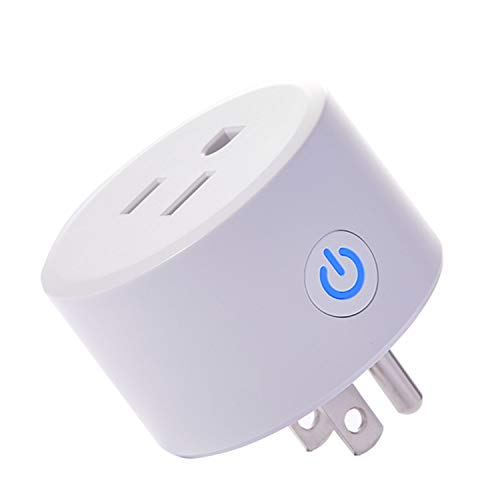 smart socket with app control Smart plug, Mini Wifi Outlet Compatible with Alexa, Google Home & IFTTT, No Hub Required, Remote Control your home appliances from Anywhere, ETL Certified (one Piece)
