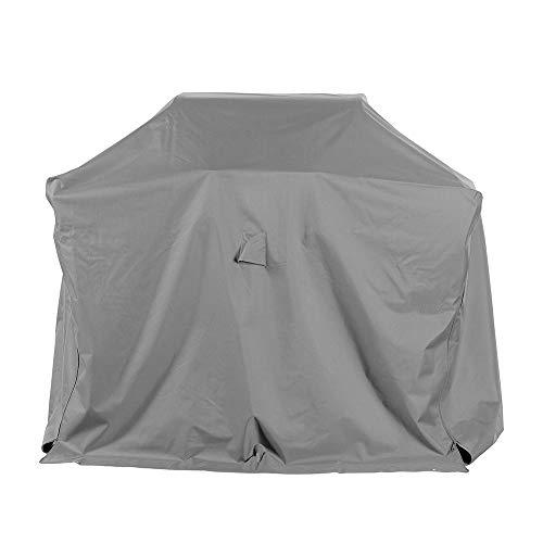 Schutzhüllenprofi Premium Schutzhülle für Gasgrill/Gasgrillküche/Grillwagen aus Polyester Oxford 600D - lichtgrau - von \'mehr Garten\' - Größe M (120 x 75 cm)