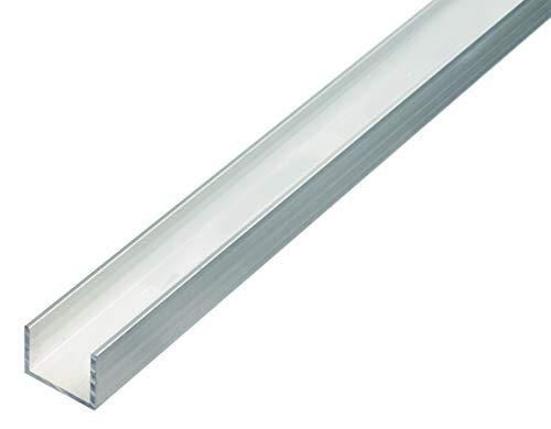 GAH-Alberts 492519 U-Profil | Aluminium, natur | 1000 x 15 x 10 mm