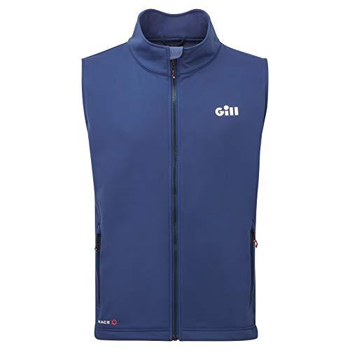 Gill Gilet sans Manches Mens Race Softshell - Bleu foncé - Couches de Couches de Chaleur Chaude et Thermique