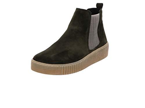 Gabor Damen Stiefeletten, Frauen Chelsea Boots,Best Fitting,Optifit- Wechselfußbett, Stretch-Einsatz Bootie flach,Bottle/beige(Natur,41 EU / 7.5 UK