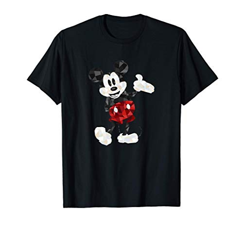 Disney Mickey Mouse Geometic Body Foot Pop Hand Out Camiseta