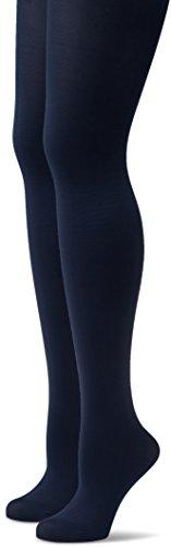 Hudson Damen Matt Fein Strumpfhose Simply 40 Doppelpack, 40 Denier, Gr. 42/44, Blau (Marine 0335)