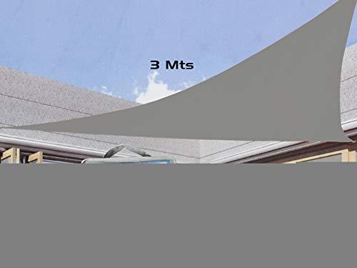 Gerimport Parasol Triangular Plus Gris Medida 3 Metros