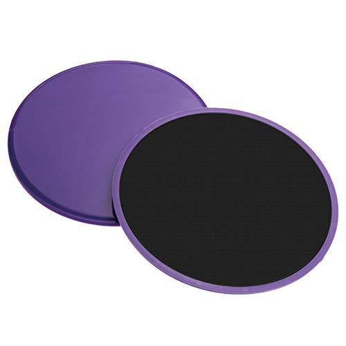 AODOOR Discos deslizantes para fitness de doble cara en suelos de moqueta y madera dura, dispositivos de fitness ligeros y perfectos para entrenamiento de todo el cuerpo, fuerza abdominal (2 unidades)