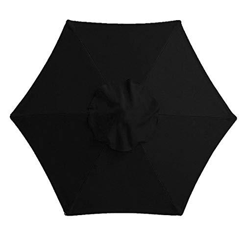 Happymore - Cubierta de repuesto para sombrilla, 2 m, 6 brazos, toldo para jardín, cubierta superior para mantener fresco, antiultravioleta, resistente al agua