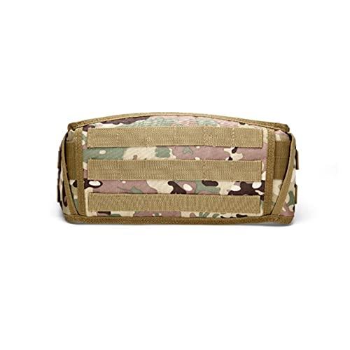 ZHOUSAN Cinturón Ancho táctico Molle Cinturón de Batalla del ejército Militar Cinturón de Cintura de Campo Multiusos Equipo Cinturón de Camuflaje de Caza al Aire Libre-CP