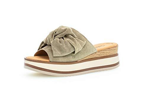 Gabor Damen Clogs, Frauen Pantolette,Best Fitting,Slipper,Slides,Sandalen,Sommerschuhe,Freizeitschuhe,weiblich,Lady,salvia (Natur),41 EU / 7.5 UK