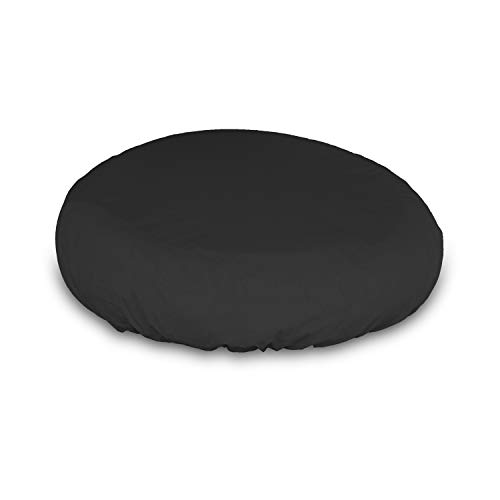 Outdoor Daybed Cover - Waterproof, Air Vents, 100% UV-Resistant, 12 Oz 1000 D PVC Coated, All Weather Resistant Fabric. Patio Furniture Covers with Drawstring for Snug fit (Black)