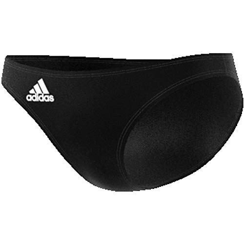 adidas Womens Volley Bikini Bottoms, Black/White, S