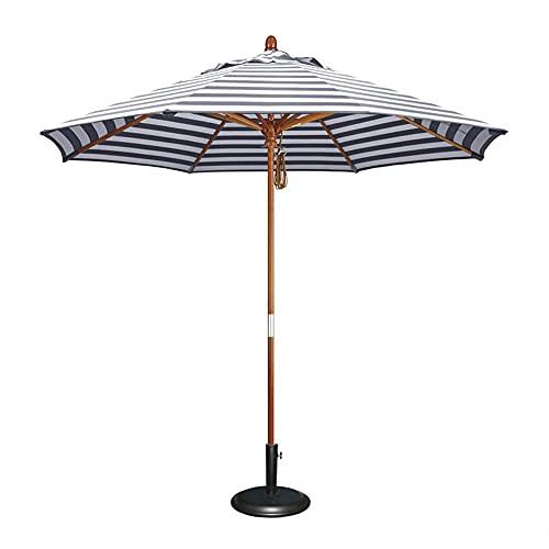 CCLLA Sombrilla de jardín con Base, sombrilla de jardín portátil, sombrilla de Mesa Plegable al Aire Libre, sombrilla de Viaje al Aire Libre de Madera Maciza antioxidante, anticorrosión y Duradera