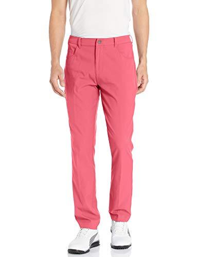 PUMA Pantalón de Golf 2019 Jackpot 5 Bolsillos, Hombre, Pantalón, 577975, Rosa, 28W / 32L