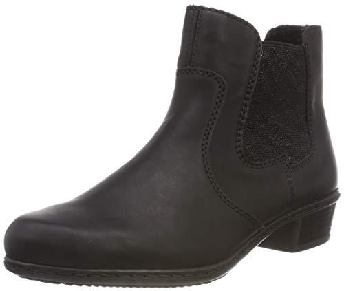 Rieker Damen Y0760 Chelsea Boots, Schwarz (Schwarz 00), 38 EU