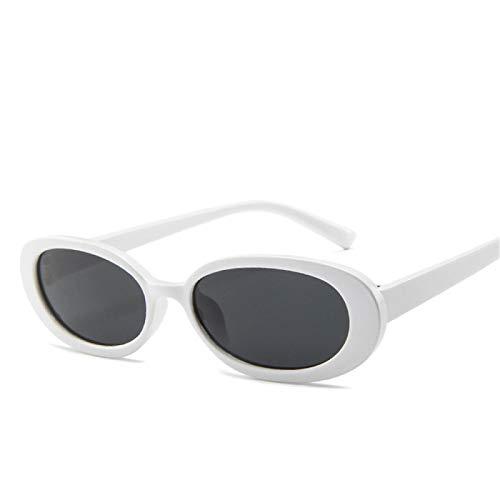 HAOMAO Diseñador de la Marca Tonos Transparentes Cute Retro Oval Uv400 Gafas de Sol para Mujer C6