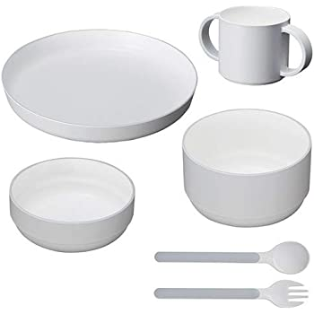tak KIDS DISH ギフトボックス カトラリー スタンダード グレー/タック キッズディッシュ 食洗機対応 (グレー) 子供用食器セット JTN-1001-GY