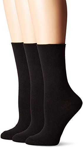 No Nonsense Women's Jean Crew Sock, Black, 4-10