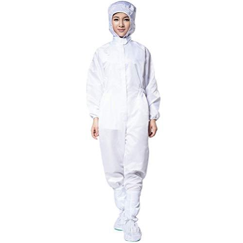 Garneck Combinaison de Protection Combinaison Globale Robes D'isolement Médical avec Capuche Et Couverture de Chaussures pour Les Premiers Soins Utiliser La Taille de L'offre XXL Blanc