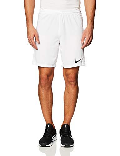 Nike Park 3 Shorts Homme, Blanc/Noir, L