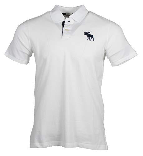 Abercrombie & Fitch Herren Kurzarm Polo - Mittesgroßes Logo (M)