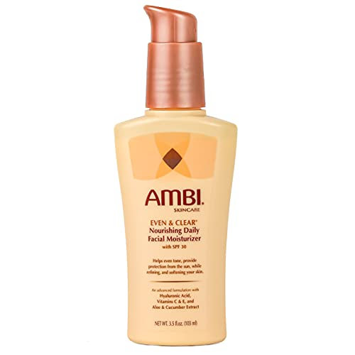 Ambi Even & Clear Daily Facial Moisturizer SPF 30   Helps Even Tone   Skin Softening   Sun Protection   3.5 Ounce