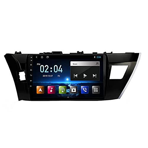 Android Radio De Coche Bluetooth, Auto Radio, Apoyo Llamadas Manos Libres FM 1080P Video WiFi AUX Entrada, para Toyota Corolla Altis 2014-2016 con Cámara De Visión Trasera,Octa Core,4G WiFi 2+32