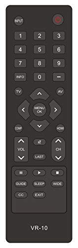 New VR10 Remote Control Replaced for Vizio TV E190VA E220MV E220VA E260MV E260VA E321VA E370VA E371VA E420VA E421VA M190VA M220VA M260VA M320VA