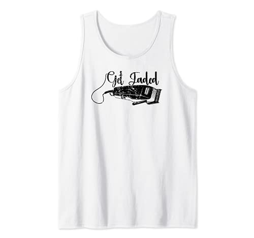 Distressed Barber Get Fadded Hair Trimmer Haircut Vintage Tank Top