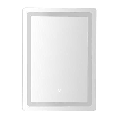 Espejo de baño Luces Kit For el maquillaje de baño Cuarto de baño con luz LED montado en la pared Espejo con luz regulable contra la niebla de la memoria del botón del tacto sin marco de espejo Estilo