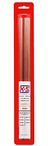 K&S Precision 3404 Round Copper Telescopic Tubes, 1/16, 3/32, 1/8, 5/32, 3/16, 7/32, 1/4 O. D. X .014