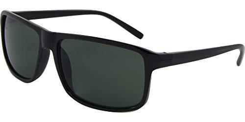 AZ-Eyewear Gafas de sol Wayfarer categoría 3, negro/verde (Basic 135-B)